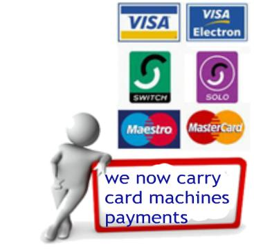 Cleaning Card payment Essex